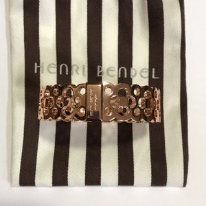HENRI BENDEL New York Rose Gold Hinged Bra…